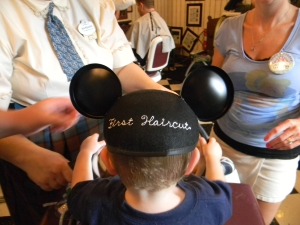 """First Haircut"" Mickey Ears"