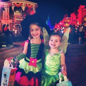 Juliet & Sylvie got to trick-or-treat through the Magic Kingdom this year!